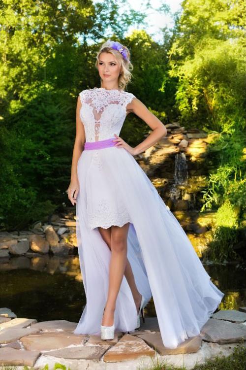 Свадебные платья со съемным шлейфом