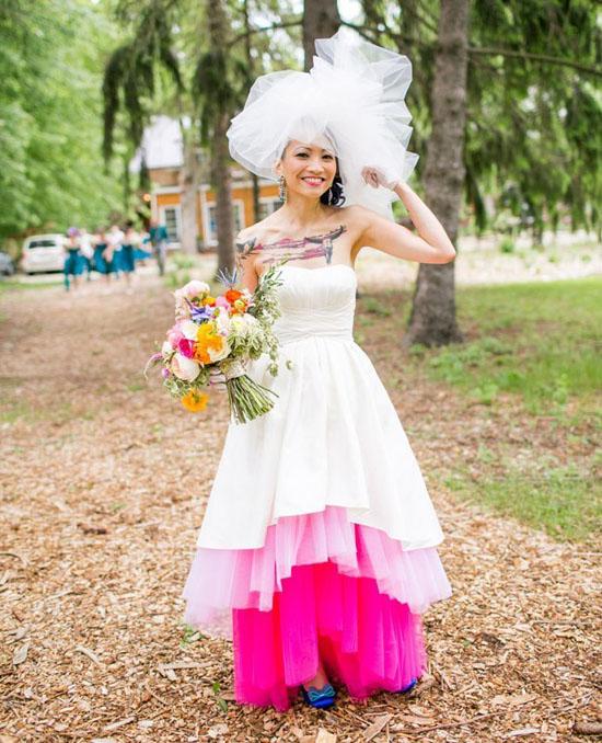 Свадебное платье для девушки с татуировками