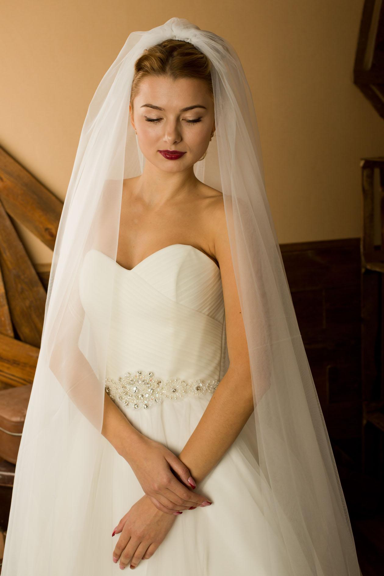 виды свадебной фаты