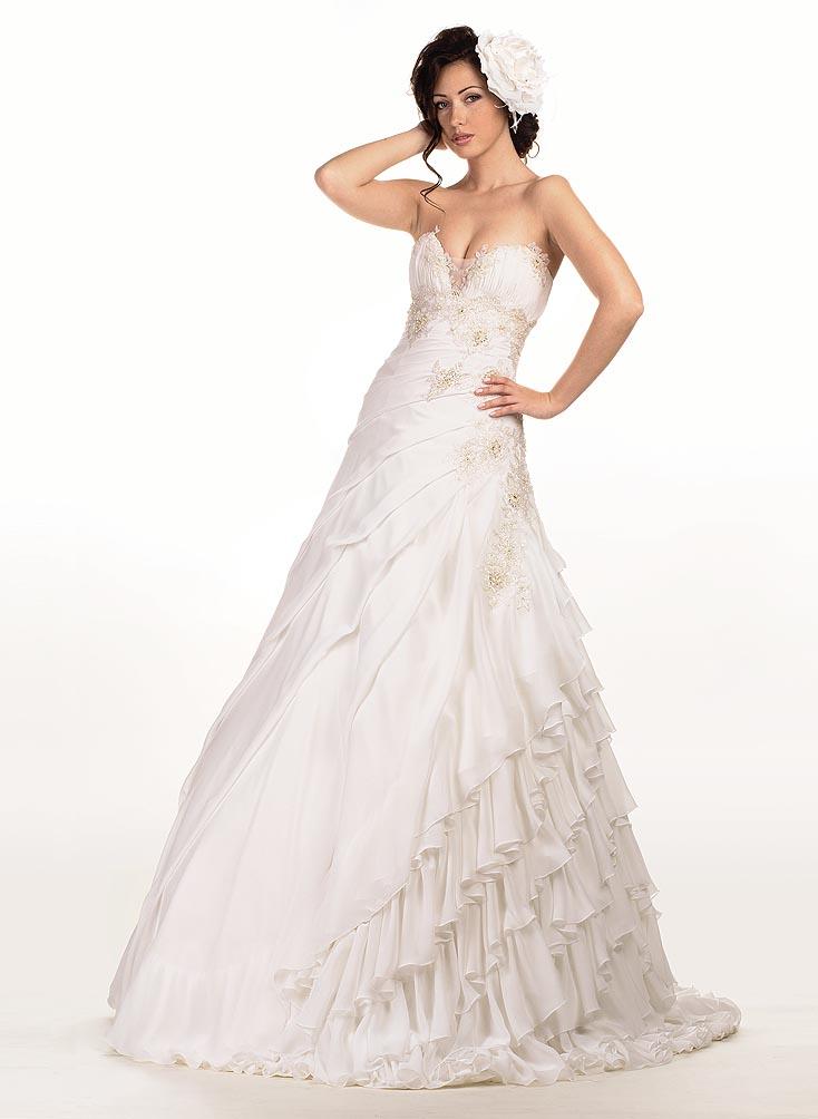 драпировка свадебного платья