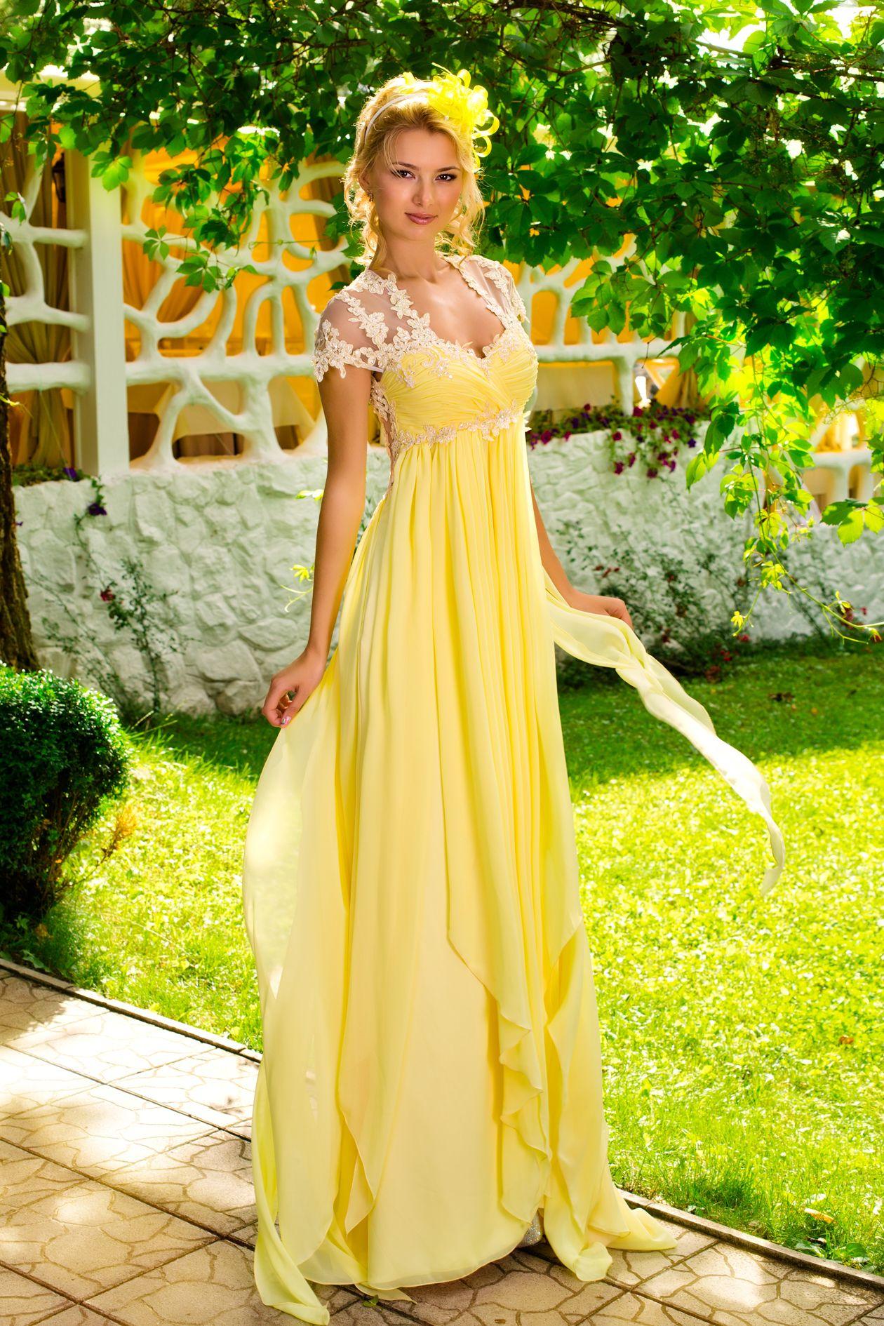 Желтое свадебное платье для уверенных в себе