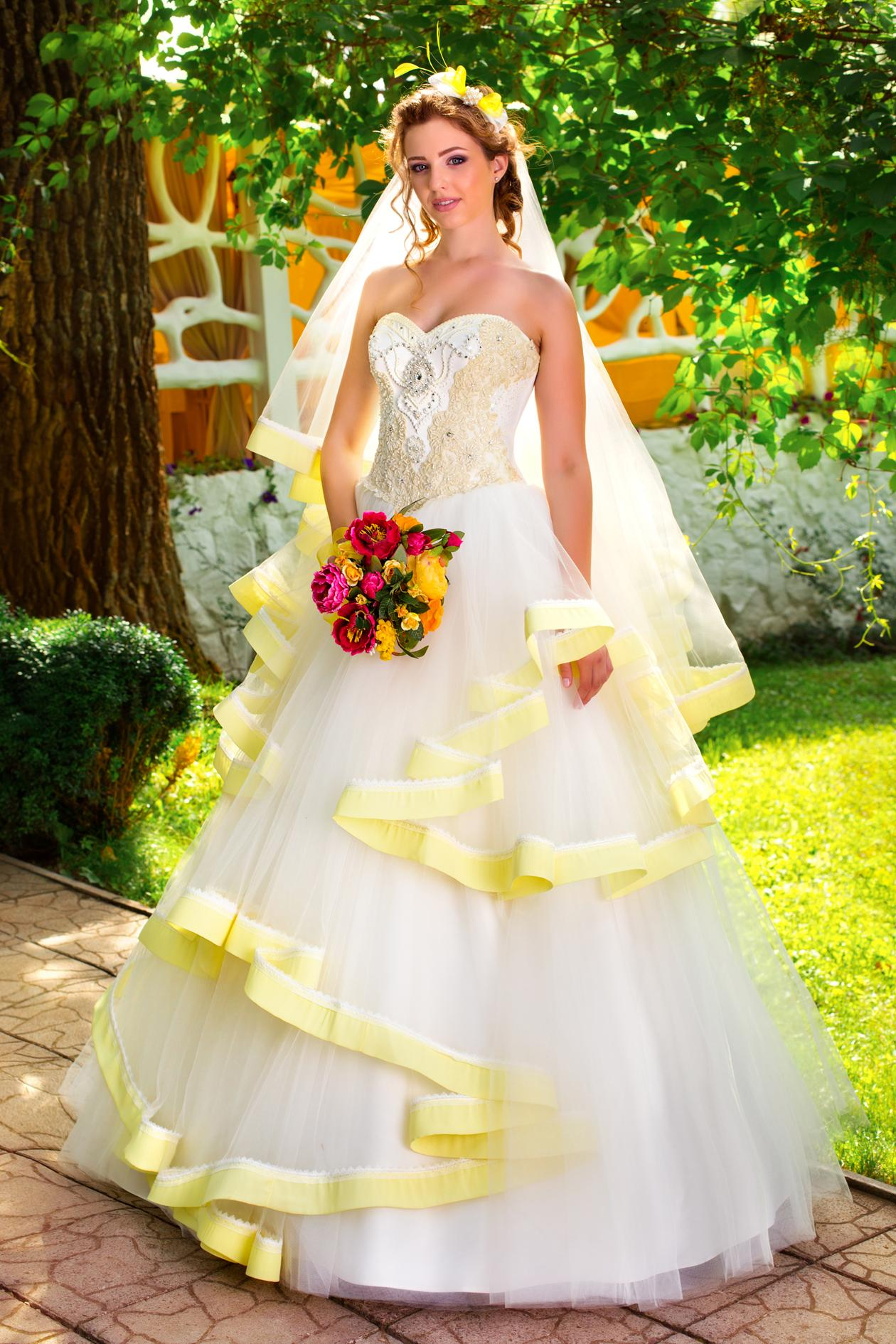 Свадебное Платье Цветное Купить В Москве