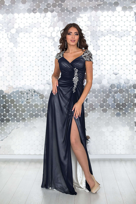 bb491a0bbcc50f5 Купить дорогое вечернее платье Millenium с разрезом на выпускной ...