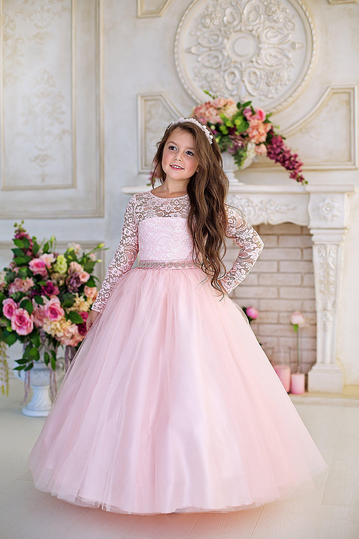 a4a496baa1b5a05 Купить нарядное пышное платье принцесса для девочки с длинным ...