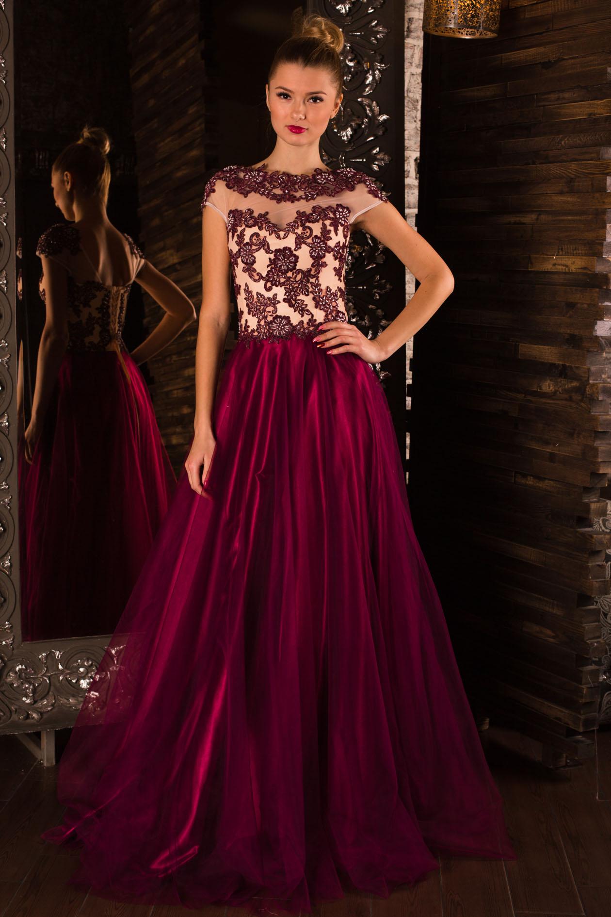77b654f4908 Купить вечернее платье из атласа Navarra на выпускной оптом от ...