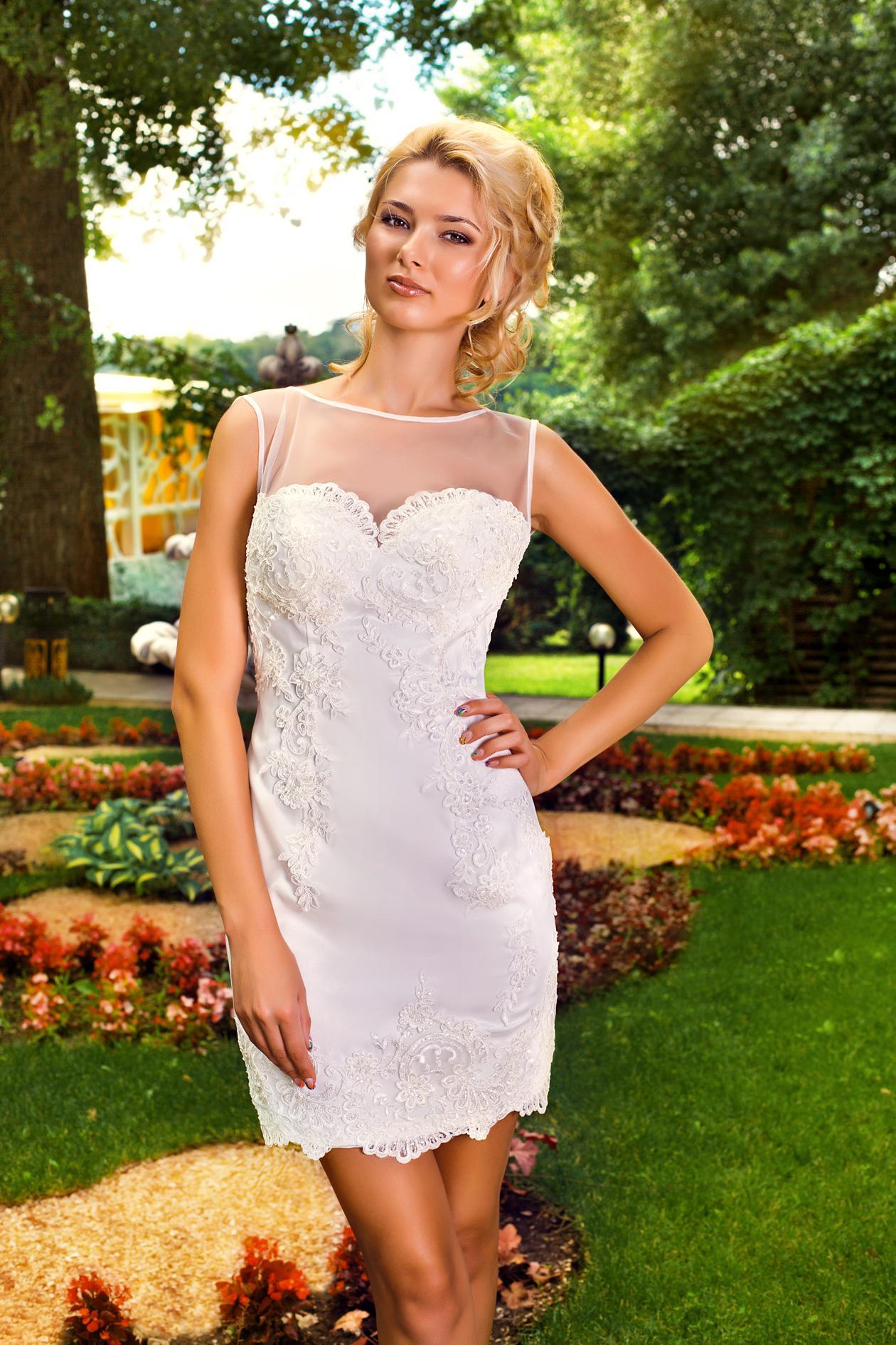 свадебное платье футляр фото