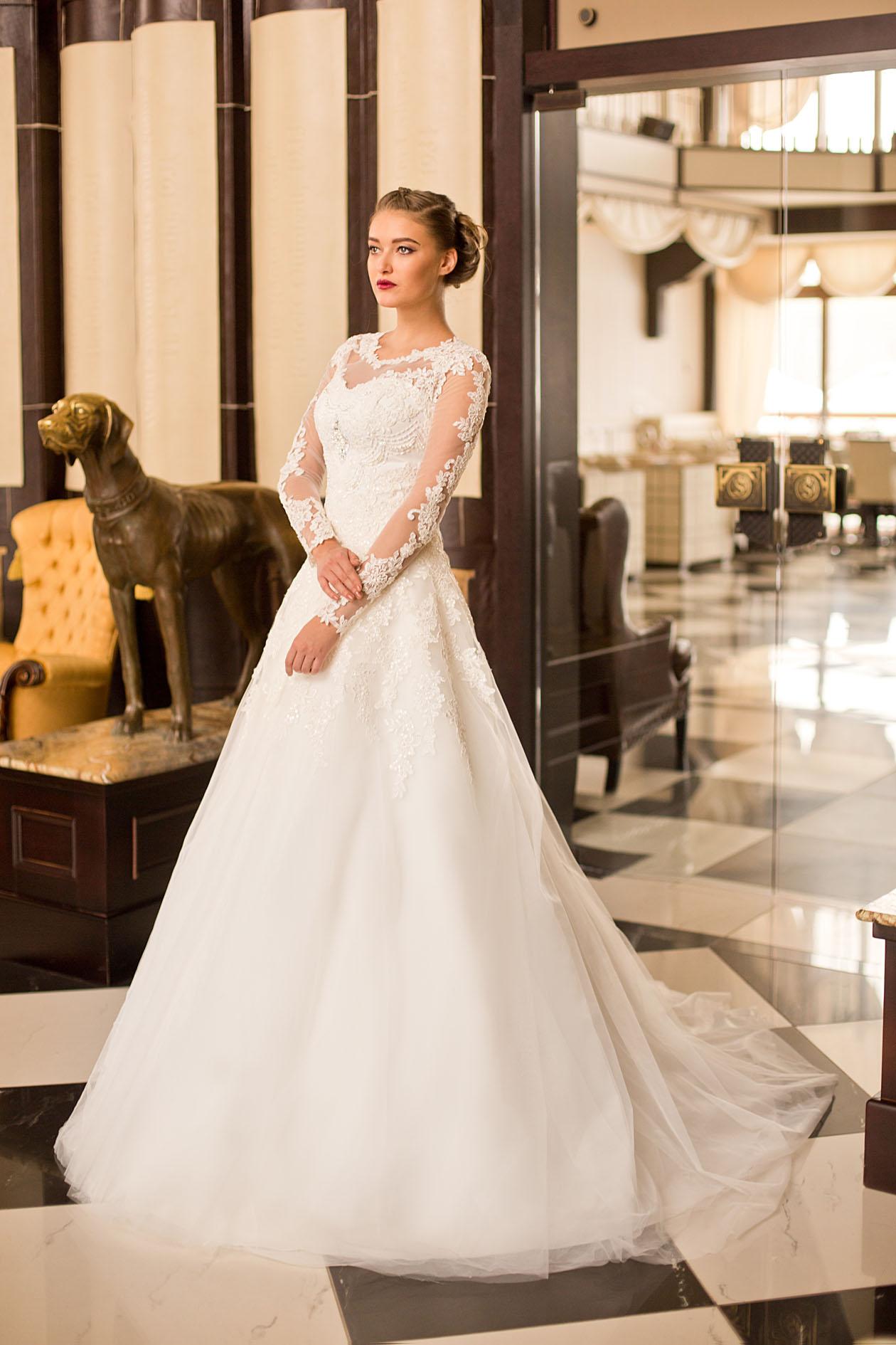 Свадебное платье А-силуэта с рукавами Pasadena   Купить дизайнерские ... 74ca6dc737b