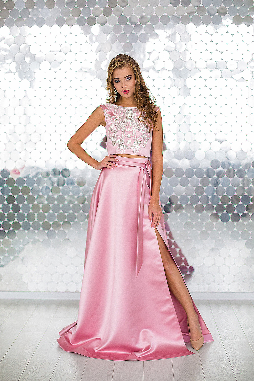 9d072b638911cbd Купить топ и юбка с разрезом Shine на выпускной оптом от ...