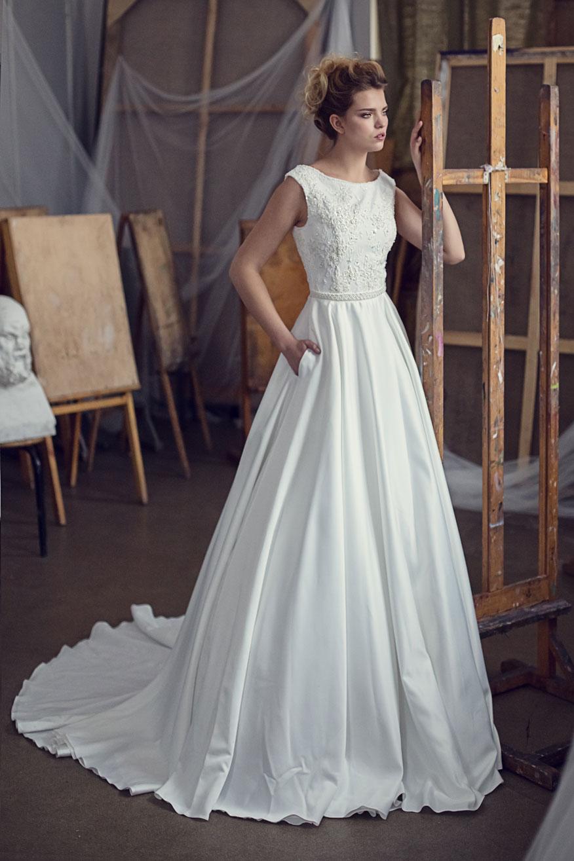 Свадебные платья со струящейся юбкой