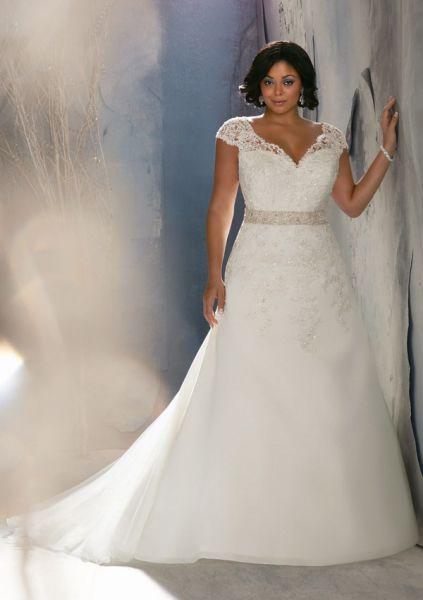 Цветные свадебные платья для полных фото